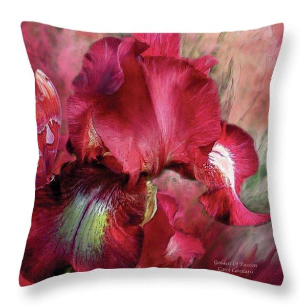 Goddess Of Passion Throw Pillow by Carol Cavalaris