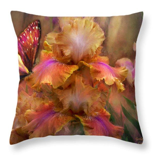 Goddess Of Sunrise Throw Pillow by Carol Cavalaris