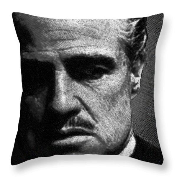 Godfather Marlon Brando Throw Pillow by Tony Rubino