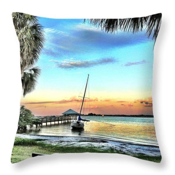 God's Country IIi Throw Pillow by Carlos Avila