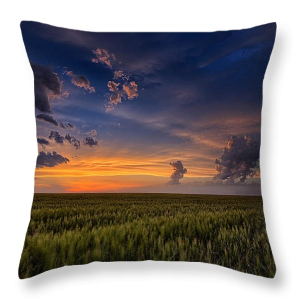 God's Country Throw Pillow by Thomas Zimmerman