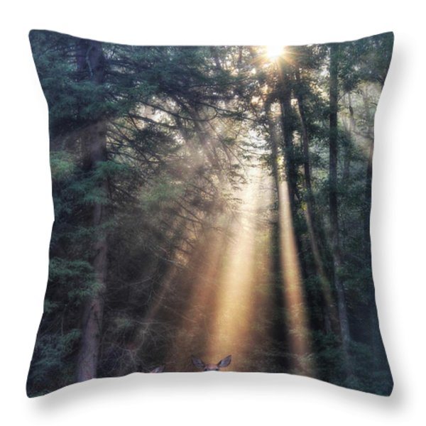 God's Creatures Throw Pillow by Lori Deiter