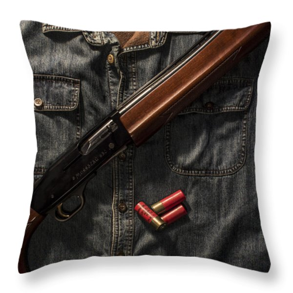 Going Afield Throw Pillow by Andrew Pacheco