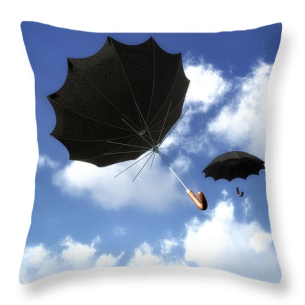 Going Down Fast And Slow Throw Pillow by Bob Orsillo