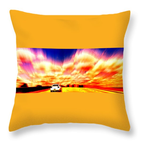 Going For A Ride Throw Pillow by Paulo Guimaraes