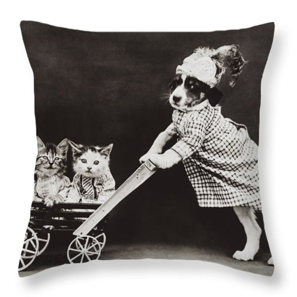 Going For A Stroll Throw Pillow by Aged Pixel
