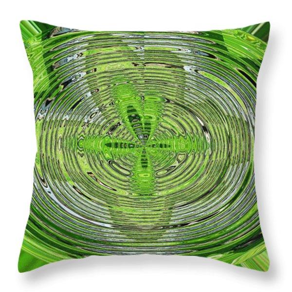 Going Green Throw Pillow by Ella Char
