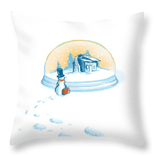 Going Home Throw Pillow by Budi Kwan