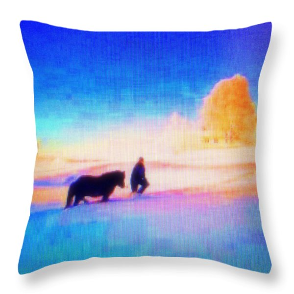 Going Home Throw Pillow by Hilde Widerberg