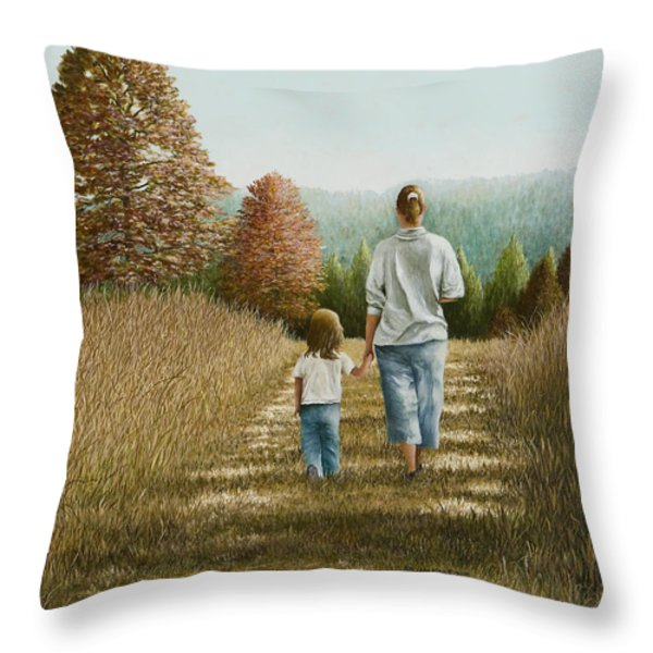 Going Home Throw Pillow by Mary Ann King