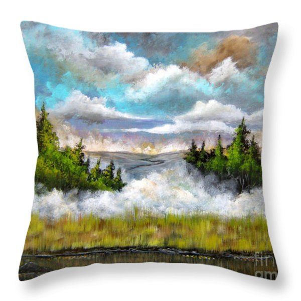 Going Home Throw Pillow by Patrice Torrillo