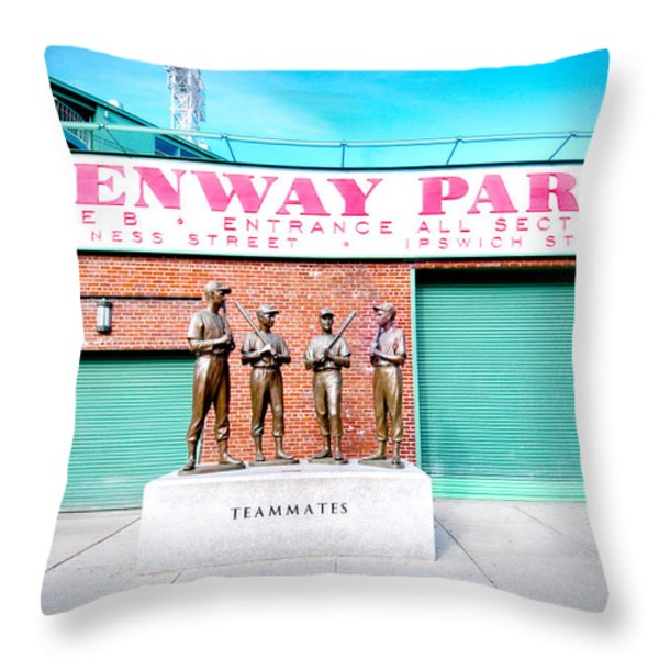 Going to The Park Throw Pillow by Greg Fortier