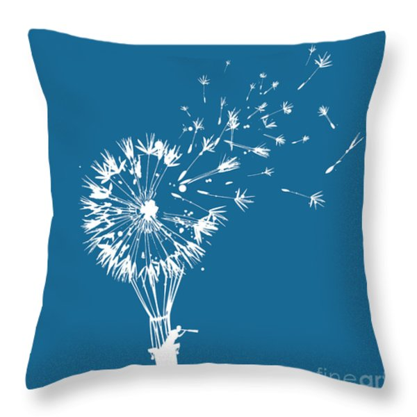 Going Where The Wind Blows Throw Pillow by Budi Satria Kwan