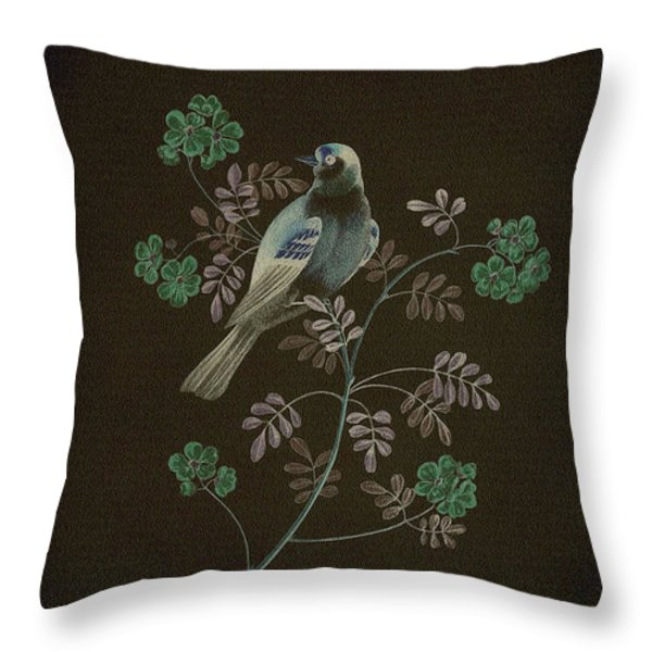Gold Finch-4 Photoart Throw Pillow by Becky Hayes