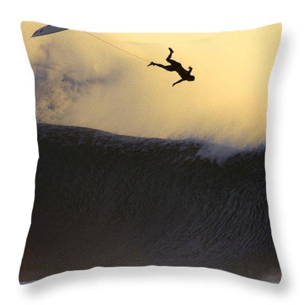 Gold Leap Throw Pillow by Sean Davey