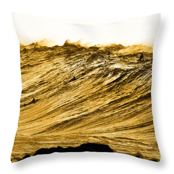 Gold Nugget Throw Pillow by Sean Davey