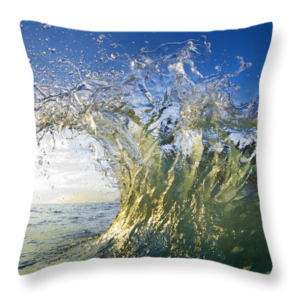 Gold Surprise Throw Pillow by Sean Davey