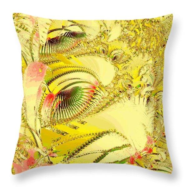 Golden Throw Pillow by Anastasiya Malakhova