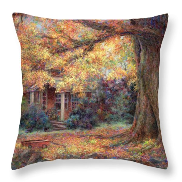Golden Autumn Throw Pillow by Susan Savad
