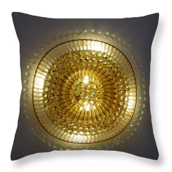 Golden Circle Throw Pillow by Leena Pekkalainen