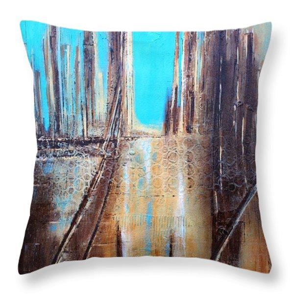 Golden City Throw Pillow by Tia Marie McDermid
