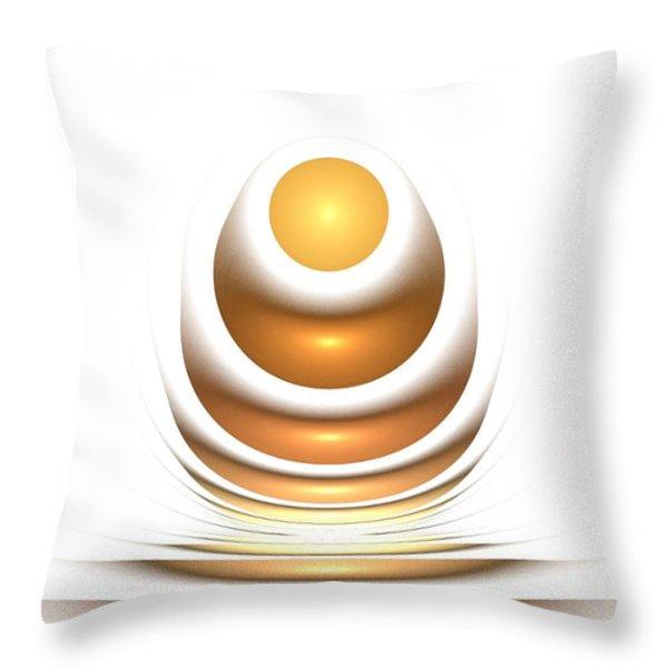 Golden Egg Throw Pillow by Anastasiya Malakhova
