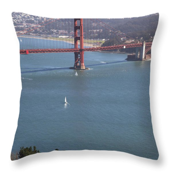 Golden Gate Bridge Throw Pillow by Jenna Szerlag