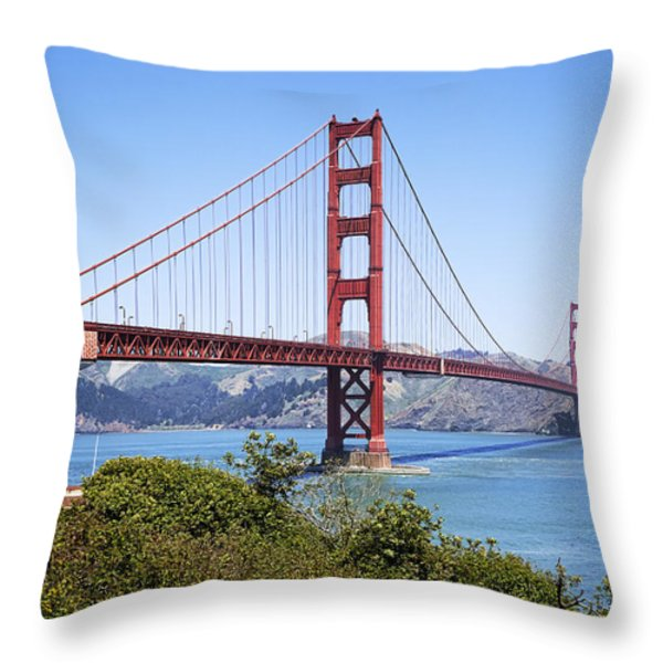 Golden Gate Bridge Throw Pillow by Kelley King