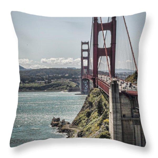 Golden Gate Throw Pillow by Heather Applegate