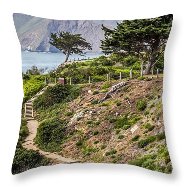 Golden Gate Trail Throw Pillow by Kate Brown
