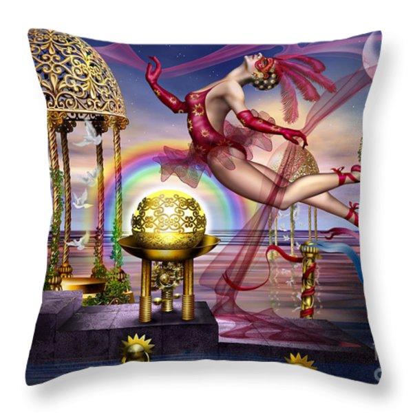 Golden Gazebos Throw Pillow by Ciro Marchetti