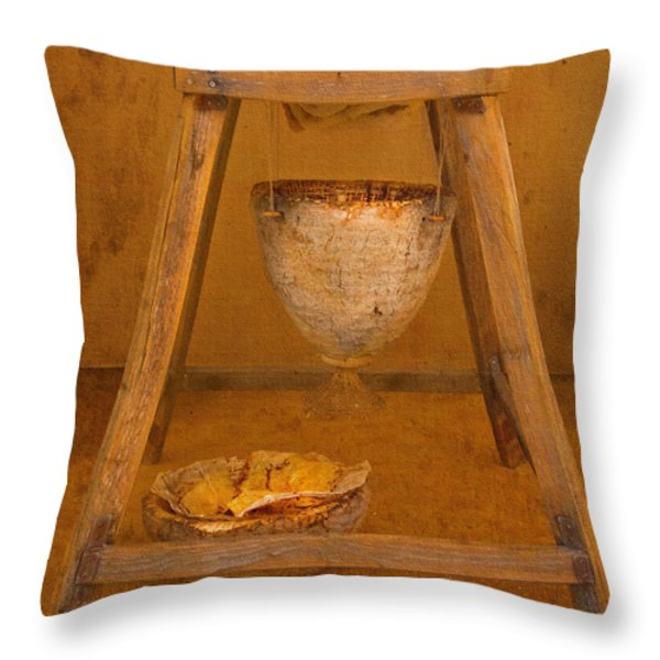 Golden Honey Throw Pillow by Kandy Hurley