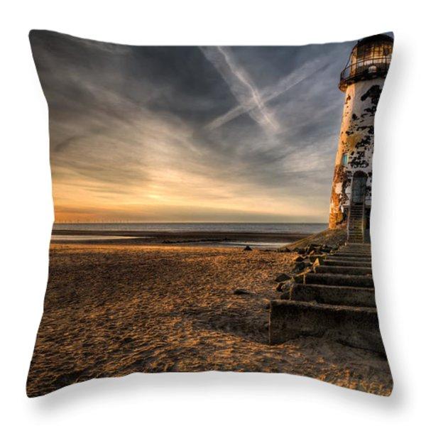 Golden Light Throw Pillow by Adrian Evans