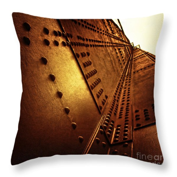 Golden Mile Throw Pillow by Andrew Paranavitana