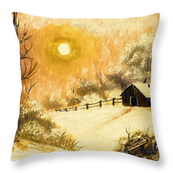 Golden Morning Throw Pillow by Barbara Griffin