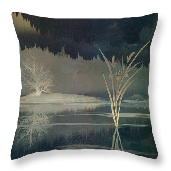 Golden Pond Lily Throw Pillow by Bedros Awak