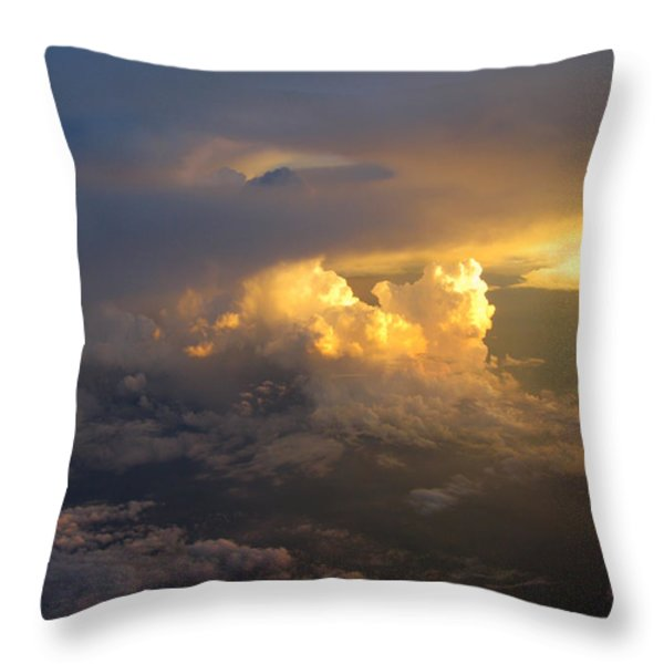 Golden Rays Throw Pillow by Ausra Paulauskaite