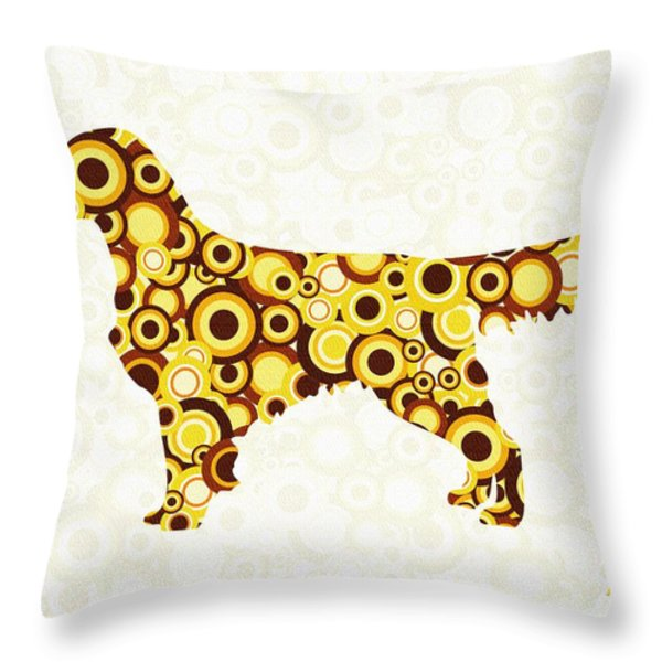 Golden Retriever - Animal Art Throw Pillow by Anastasiya Malakhova