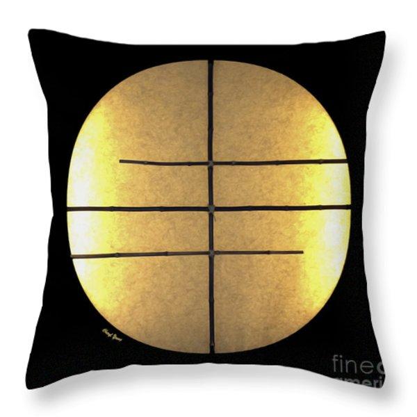 Golden Sun Throw Pillow by Cheryl Young