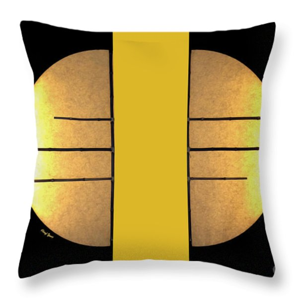 Golden Sun Diptych Throw Pillow by Cheryl Young