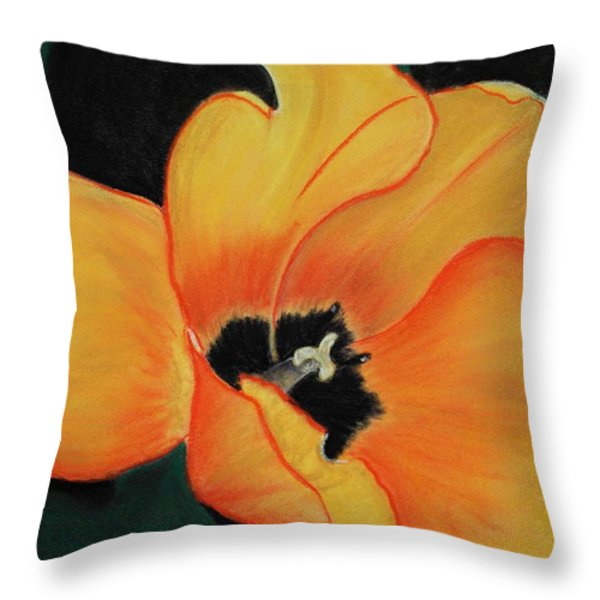 Golden Tulip Throw Pillow by Anastasiya Malakhova