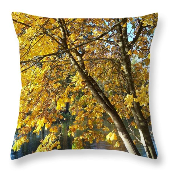 Golden Zen Throw Pillow by Chalet Roome-Rigdon