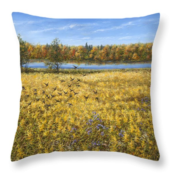 Goldenrod Throw Pillow by Doug Kreuger