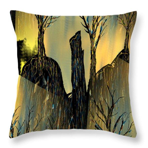 Goldforest Throw Pillow by Yul Olaivar