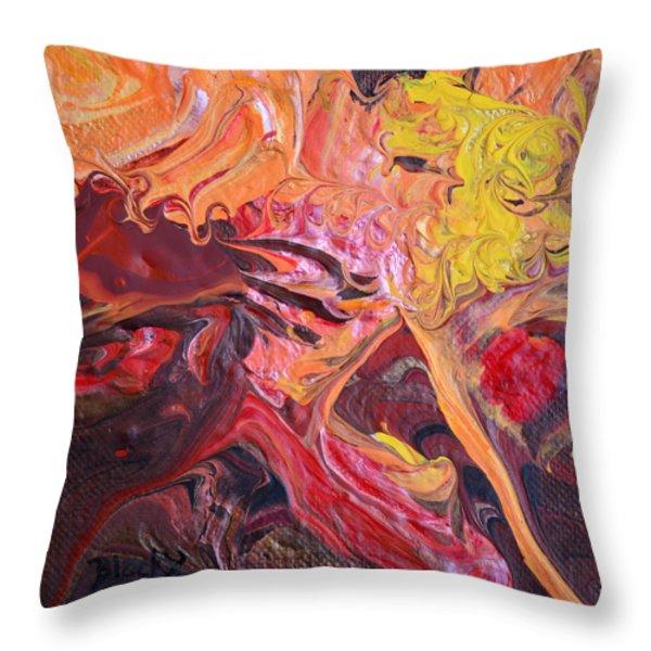Goldilocks' Dementia Throw Pillow by Donna Blackhall