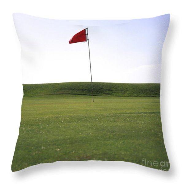 Golf Throw Pillow by Bernard Jaubert