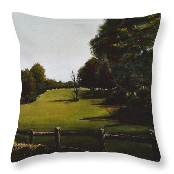 Golf Course In Duxbury Ma Throw Pillow by Diane Strain