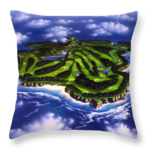 Golfer's Paradise Throw Pillow by Jerry LoFaro