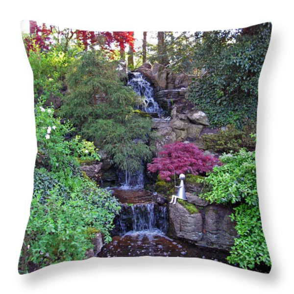 Gone Fishing. Keukenhof Gardens. Holland Throw Pillow by Ausra Paulauskaite