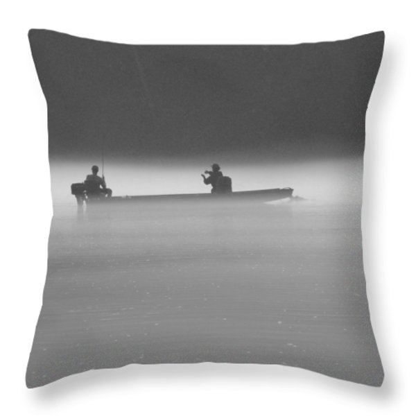 Gone Fishing Throw Pillow by Mike McGlothlen